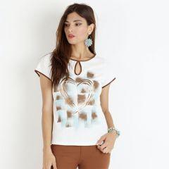 Camiseta Manga Corta Con dibujo Yhocos