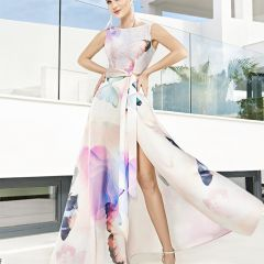 Vestido Largo Sin Mangas Sonia Peña M-12210110-ROJO-38