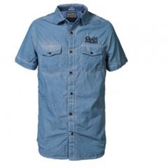 Camisa Manga Corta Petrol C-SIS449-542-AZUL-L