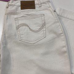 Pantalón Vaquero  Adolfo Dominguez Cintura Alta M-0521-BLANCO-46