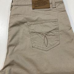 Pantalón Bolso Vaquero Loneta Adolfo Dominguez Cintura Alta M-62241-VISON-46