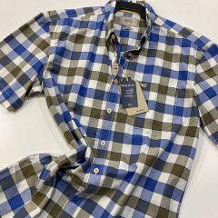 Camisa Manga Corta Camel C-335085-23-AZUL-S