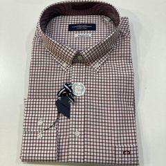 Camisa Manga Larga Carlos Cordoba C-53739-GRANATE-4XL