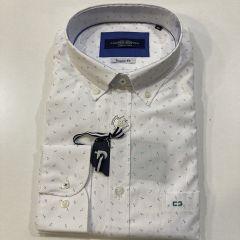 Camisa Manga Larga Carlos Cordoba C-ML73711-BLANCO-4XL