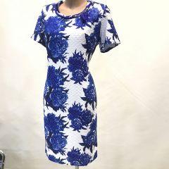 Vestido Manga Corta Estampado Olga Santoni