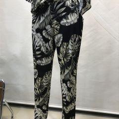 Pantalón Con Gomas Estampado Olga Santoni