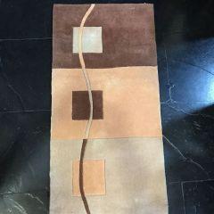 Alfombra PIe De Cama Gb Carpets H-MAYTE2104-MARRON-57*117