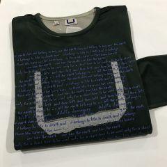 Camiseta Manga Adolfo Dominguez C-77304-VERDE-M
