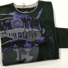 Camiseta Manga Adolfo Dominguez C-17995-VERDE-M