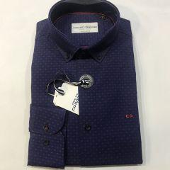 Camisa Manga Larga Carlos Cordoba C-82216-4-MARINO-L