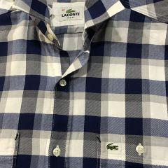 Camisa Manga Larga Lacoste C-DCH5755-AZUL-L