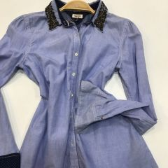 Camisa Manga Larga Tommy M-1657631430-460-AZUL-L