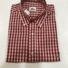 Camisa Manga Corta Lacoste C-L4H3214-VIN-ROJO-M