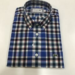 Camisa Manga Corta Lacoste C-CH6663-K7A-AZUL-M