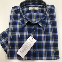 Camisa Manga Corta Lacoste C-CH7234-2KR-AZUL-M