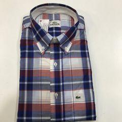 Camisa Manga Corta Lacoste C-L4H4689-FUO-AZUL-M