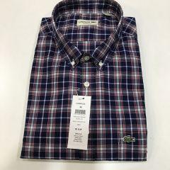 Camisa Manga Corta Lacoste C-CH4596-EZG-AZUL-2XL