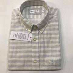Camisa Manga Corta Lacoste C-CH5008-CBQ-GRIS-M