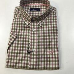 Camisa Manga Corta Fred Perry C-4502-100-ROSA-M