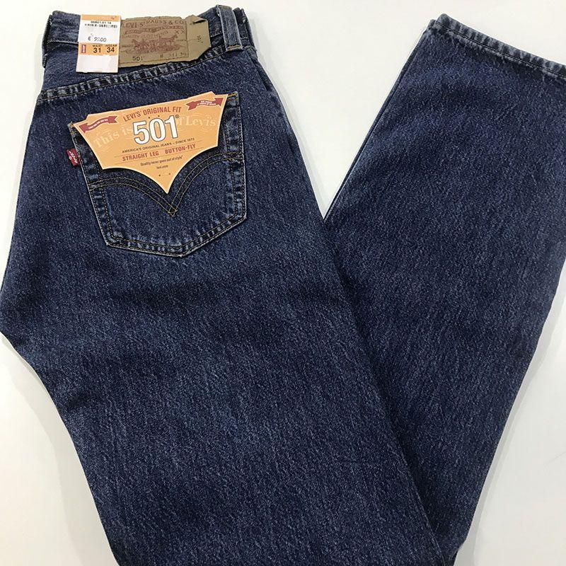 Pantalon Vaquero Levis 501 Pata Recta Con Botones C 501 0137 Azul 39